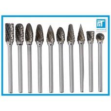 Борфрезы по металлу карбид вольфрама набор 10 шт. для Dremel / дремель / гравера
