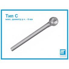 Алмазная шарошка 6 мм (тип C) для гравера / Dremel / дремель