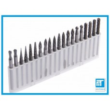 Борфрезы 3x3 по металлу карбид вольфрама набор 20 шт. для Dremel / дремель / гравера