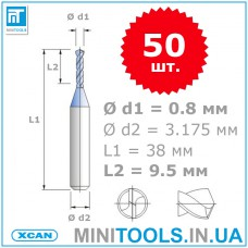 Сверла для плат твердосплавные (PCB)  0,8 мм 50 шт. XCAN карбид вольфрама /оптом