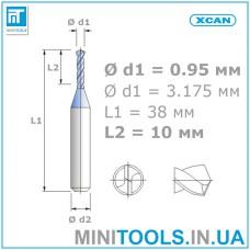Микро сверло 1 шт. Ø 0,95 мм карбид вольфрама XCAN
