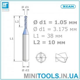 Микро мини сверло 1 шт 1,05 мм карбид вольфрама XCAN