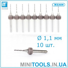 Микро сверла 10 шт 1,1 мм карбид вольфрама XCAN