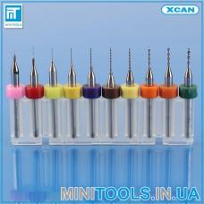 Набор мини микро сверла карбид вольфрама 10 шт. 0,1 - 1,0 мм 0.1 - 1.0 мм