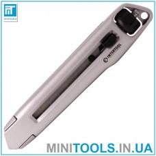 Нож металлический усиленный 18 мм с винтовой фиксацией лезвия INTERTOOL HT-0512