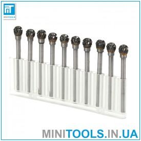 Набор 10 шт. борфрез тип D0606 M03 6x3 мм по металлу карбид вольфрама для Dremel / дремель / гравер