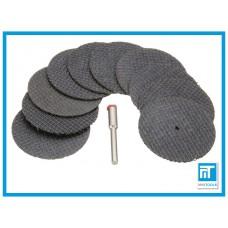 Диски отрезные по металлу 38 мм для Dremel / гравера / дремель набор 10 шт.