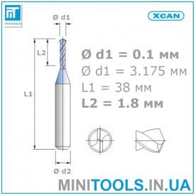 Микро мини сверло 1 шт 0,1 мм карбид вольфрама XCAN