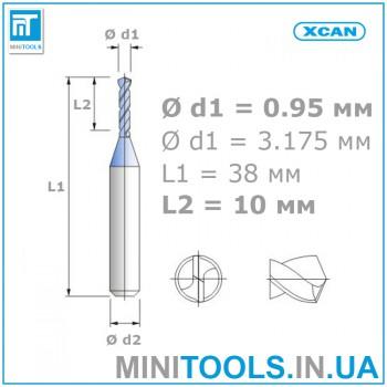 Микро мини сверло 1 шт 0,95 мм карбид вольфрама XCAN