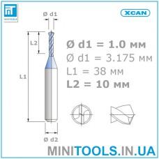 Микро сверло 1 шт. Ø 1,0 мм карбид вольфрама XCAN