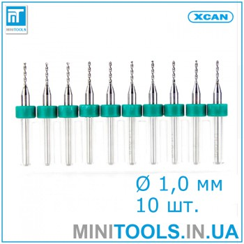 Микро сверла 10 шт 1,0 мм карбид вольфрама XCAN