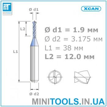 Микро мини сверло 1 шт 1,9 мм карбид вольфрама XCAN