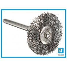 Щетка радиальная проволочная 22 мм для Dremel / дремель / гравера