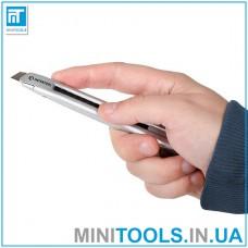 Нож металлический усиленный качественный 9 мм INTERTOOL HT-0509