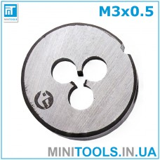 Плашка М3 (M3x0,5) INTERTOOL SD-8206