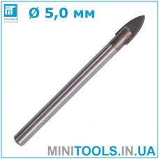 Сверло по стеклу 5 мм (5x65 мм INTERTOOL SD-0265)