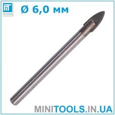 Сверло по стеклу 6 мм (6x65 мм INTERTOOL SD-0266)